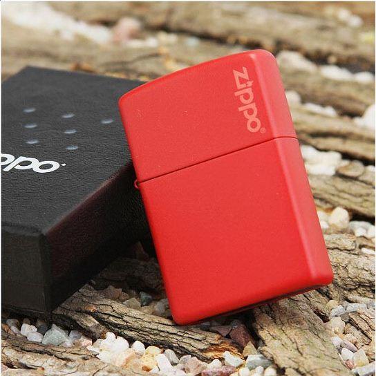 Bật Lửa Zippo Sơn Tĩnh Điện Đỏ (Khắc Laser Logo Zippo)
