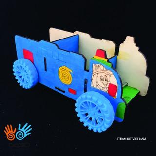 Đồ chơi STEM lắp ghép bằng gỗ-Xe cứu hoả-Made in VN thumbnail