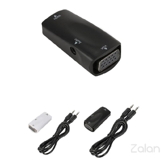 HDMI to VGA Adapter 720P Female to Female Converter with 3.5 mm Audio for Projector Monitor HDTV Laptop 942