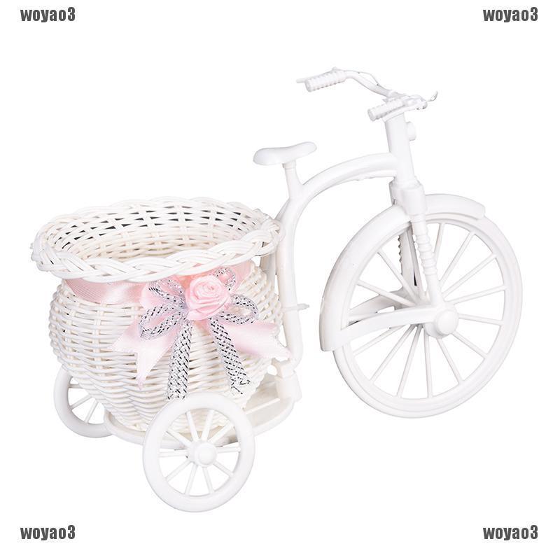 Giỏ nhựa họa tiết xe đạp cổ điển dùng để trang trí nội thất