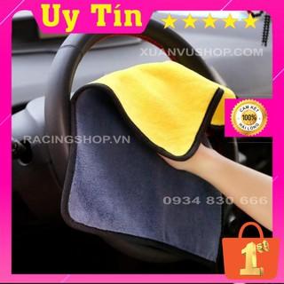 Khăn lau xe hơi SIÊU HOT Khăn Lau Ô TÔ - XE MÁY màu vàng 2 lớp cao cấp siêu sạch siêu thấm hút - K002 thumbnail