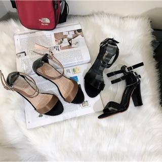 [FREESHIP]Giày sandal cao gót 7cm, chất da lụa đẹp êm mềm chân, gót vuông vững chân