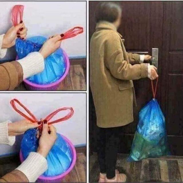 Combo 3 cuộn 45 chiếc túi đựng rác dâ