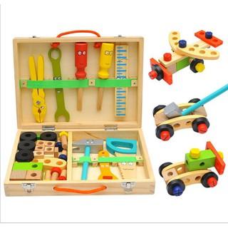 Đồ chơi bộ dụng cụ kỹ thuật sửa chữa bằng gỗ