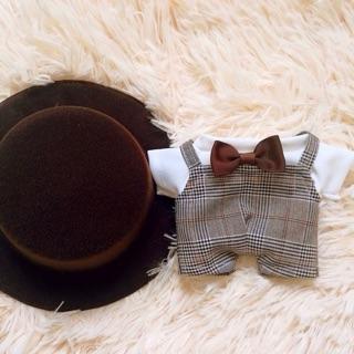 OUTFIT CHO DOLL Set áo nơ, yếm, mũ cho doll 20cm (có ảnh hàng thật)