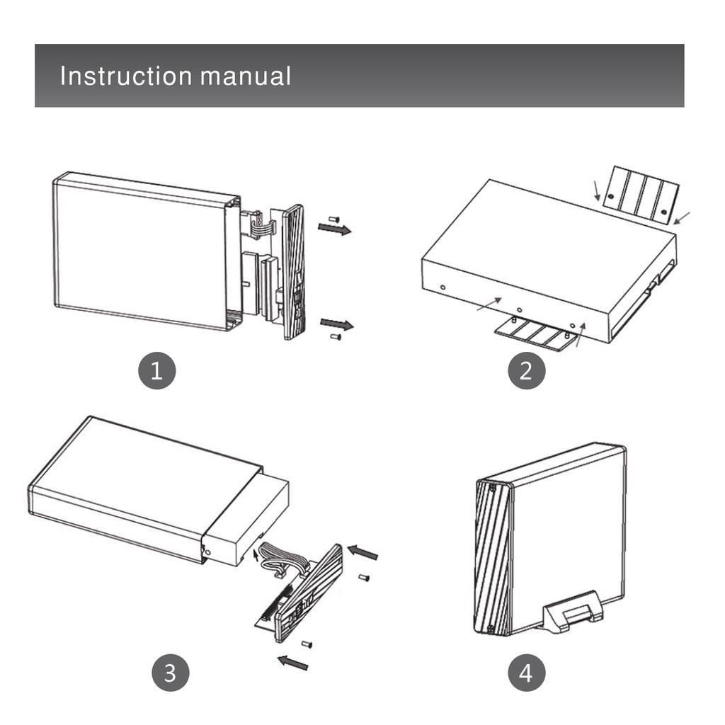 "WAVLINK Hard Drive Disk Enclosure USB 3.0 to SATA External Case (3.5"")"