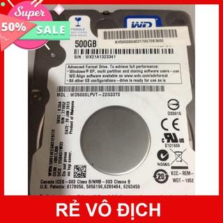 hdd laptop chuẩn 2.5 ich dung lượng 500gb tốc độ 5400prm, giá rẻ thumbnail