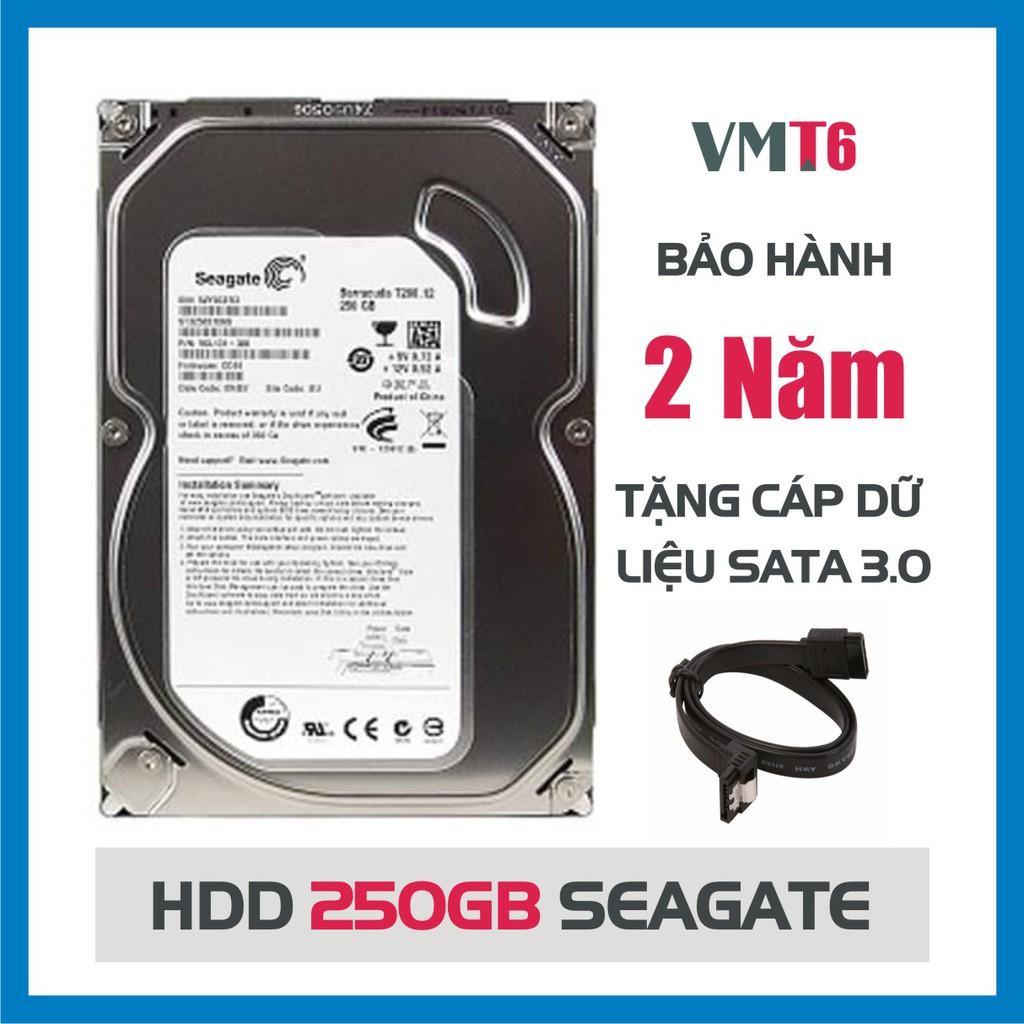 Ổ cứng HDD Seagate 250GB – Tháo máy đồng bộ mới 99% – Bảo hành chính hãng 24 tháng 1 đổi 1 Giá chỉ 199.000₫