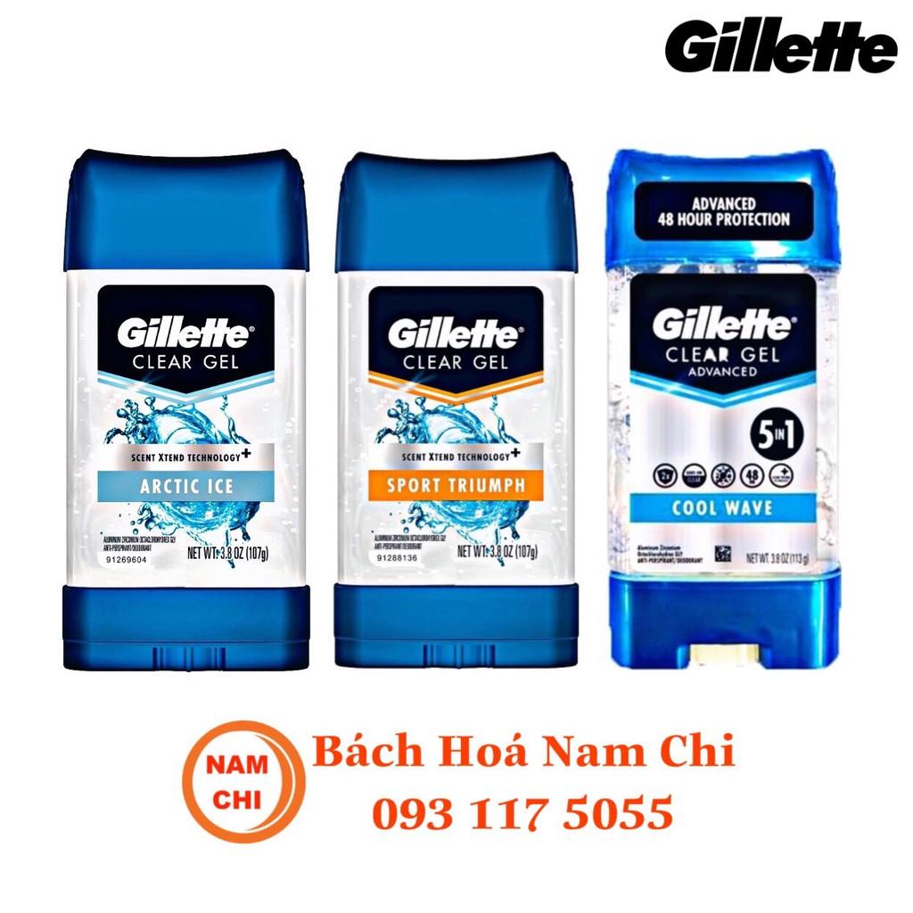 Lăn Khử Mùi Dành Cho Nam Gillette Mỹ 107g Cool Wave 5in1 | Artic Ice | Sport Triumph - Hàng Nhập Khẩu Chính Hãng