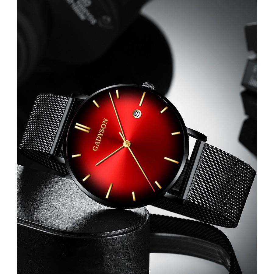 Đồng hồ thời trang nam GADYSON Chính Hãng Doanh Nhân 2019 Dây thép mành cao cấp GN1922