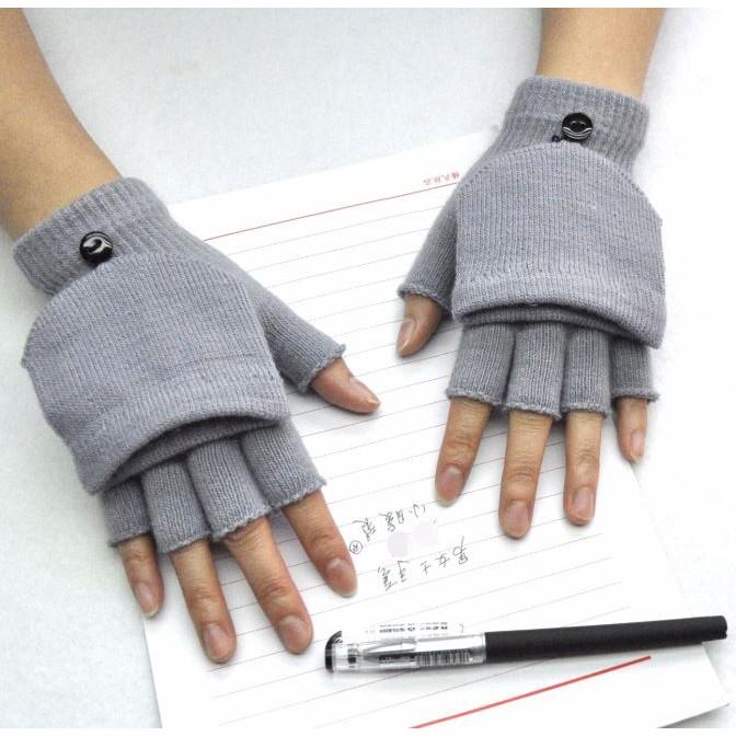ถุงมือกันหนาว C05 ถุงมือไหมพรมแบบโชว์นิ้วหรือสวมก็ได้ กันหนาว ส่งทันที