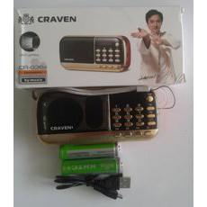 Đài nghe nhạc craven CR-836S hỗ trợ nghe FM, USB, Thẻ nhớ