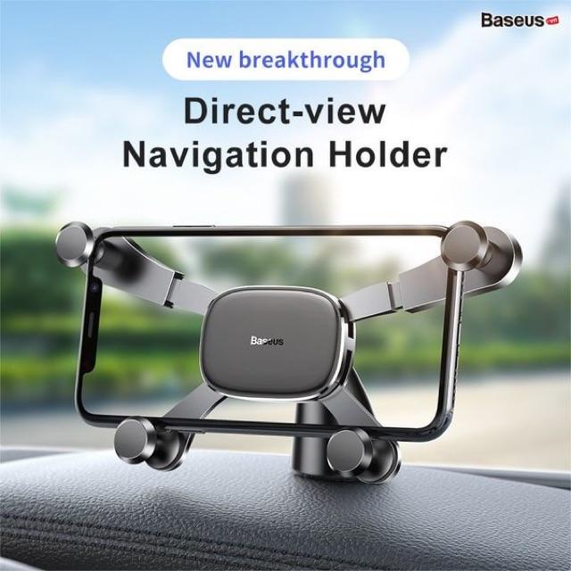 Bộ đế giữ điện thoại trên xe hơi Baseus Horizontal Screen Gravity Holder (Paste Type,Vehicle-mounted, Car Holder )