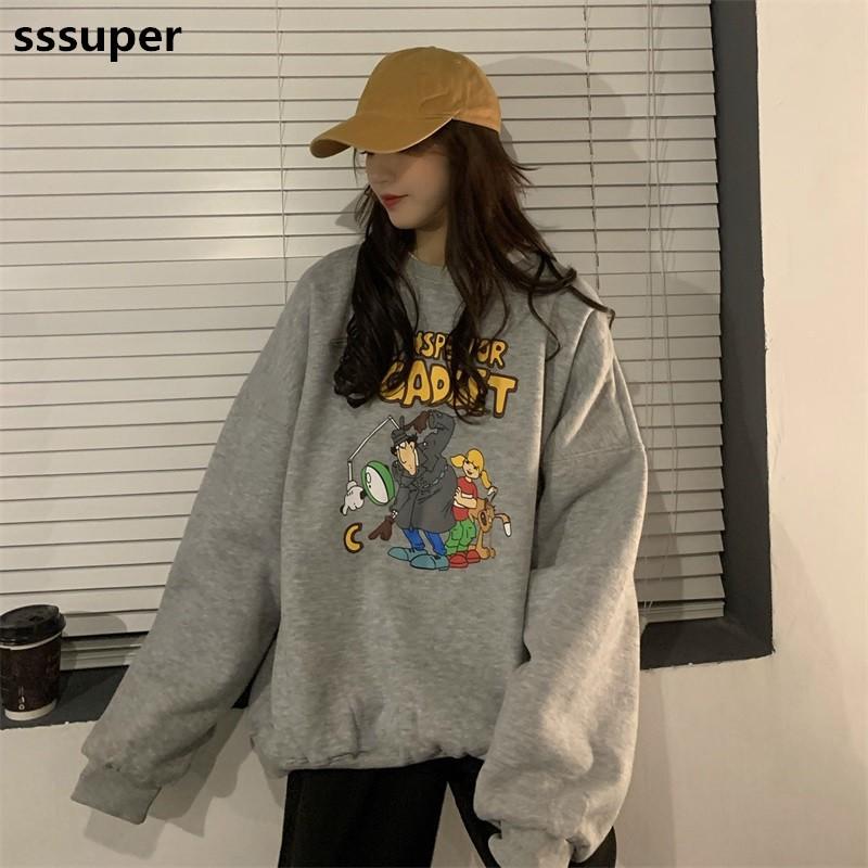 [Mã WACB21 hoàn 20% tối đa 50K xu đơn 99K] Áo sweater cổ tròn Hàn Quốc Unisex kiểu dáng đơn giản