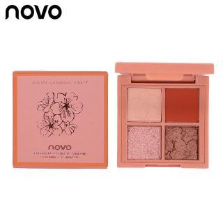 Bảng phấn mắt NOVO gồm 4 màu nhũ và lì thời trang xinh xắn