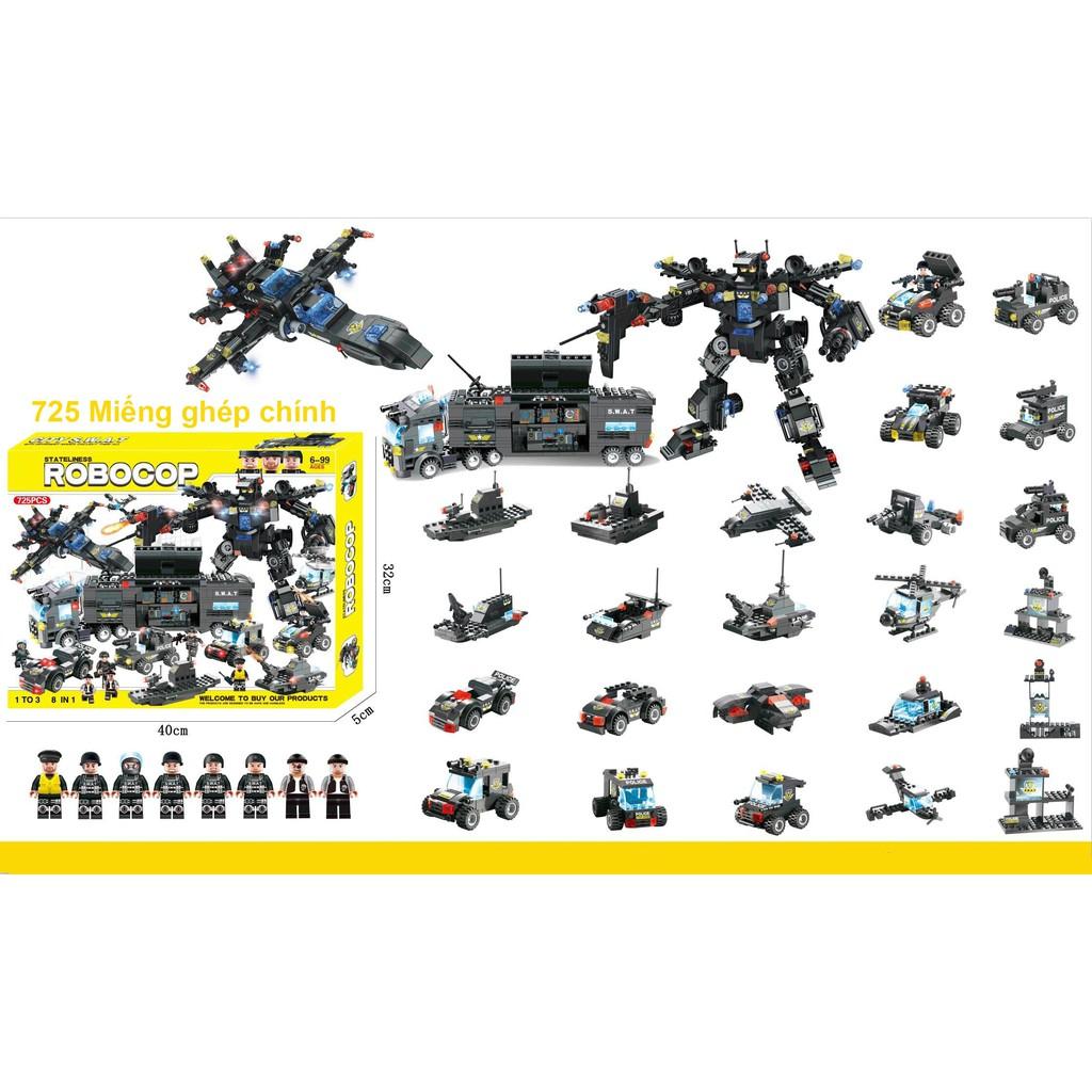 Lego Ghép Hình Đội Đặc Nhiệm SWAT CITY 8IN1 1102PCS SP619