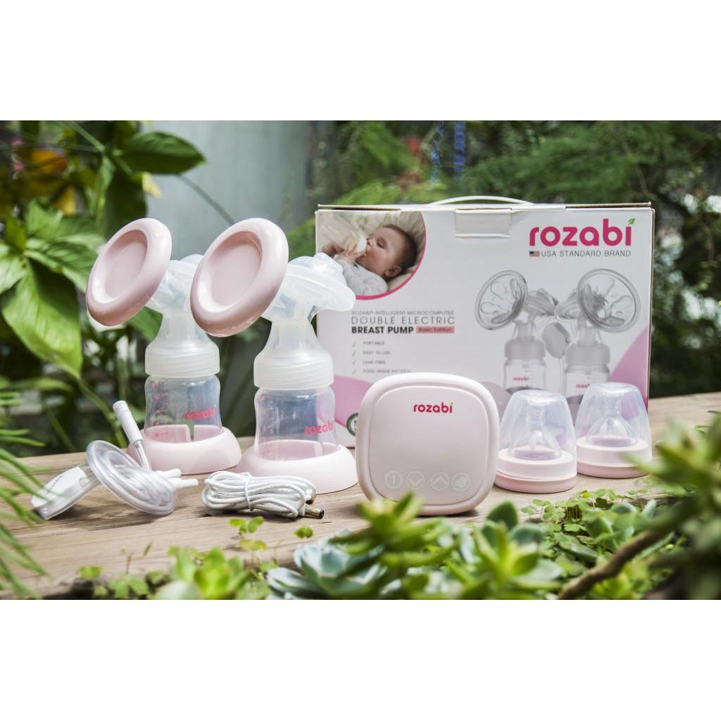 [Sỉ_lẻ] Máy hút sữa điện đôi Rozabi Compact 2018 ( có quà tặng)