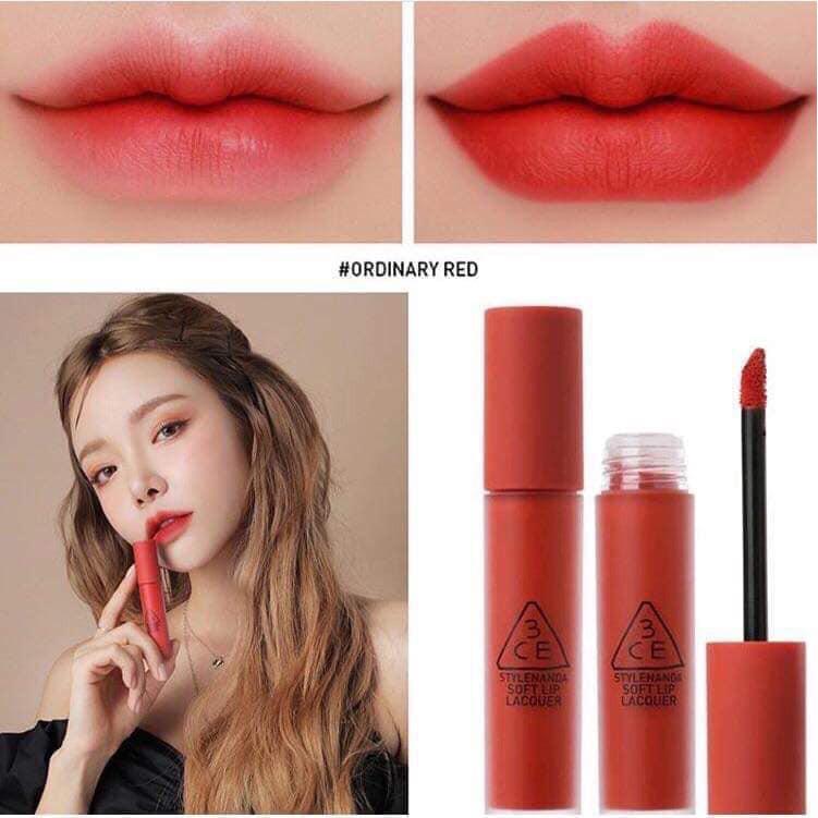 Son kem lì 3CE Soft Lip Lacquer | Màu #Ordinary red #Define This ...