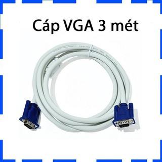 Dây VGA/Cáp VGA 3 mét/2 đầu màu xanh/Chống nhiễu/Bảo hành 3 tháng