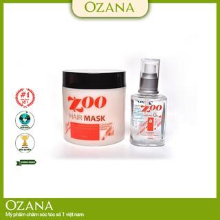 [Bộ combo 2 sản phẩm] Kem Hấp - Ủ- Xả Phục Hồi Tóc Collagen, Tinh Dầu Dưỡng Tóc Dành cho tóc xoăn, tóc khô xơ CB01
