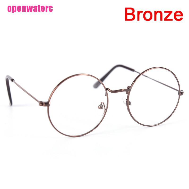 OPE Vintage Round Glasses Men Women Metal Frame Retro Luxury Eye wear Clear Glasses