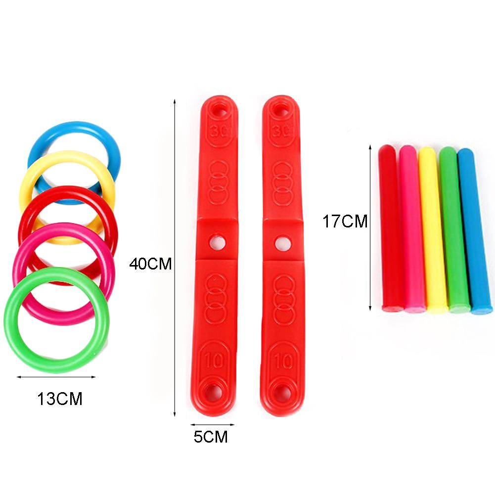 JINM Kids Toys Quoits Set, Hoop Ring Plastic Outdoor Garden Game Pool Quoits(red)