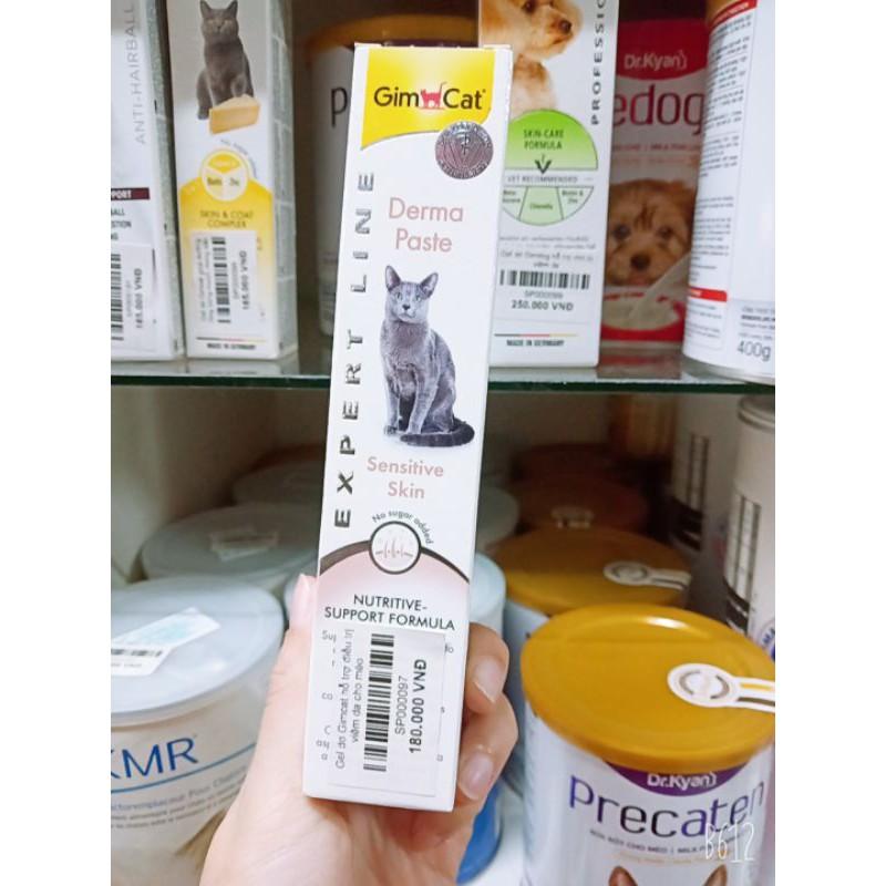 Gel dinh dưỡng Gimcat hỗ trị điều trị viêm da cho mèo