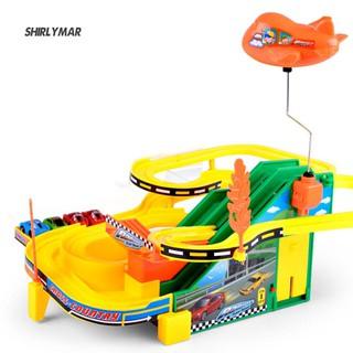 ஐSr Kid Electric Rail Car Race Track Parking Lot Kit Toys Mini Educational Games