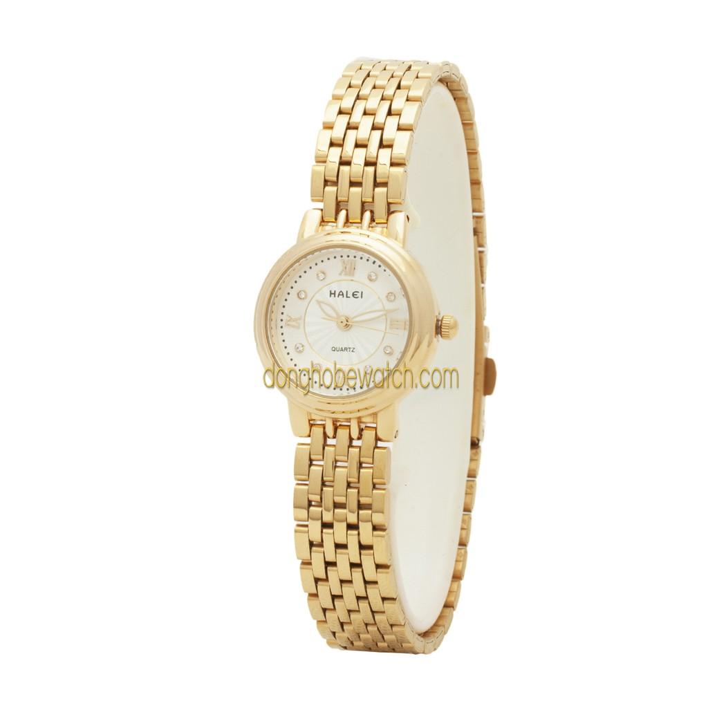 Đồng hồ nữ Halei HL54 dây kim loại vàng - 101481682,322_101481682,399000,shopee.vn,Dong-ho-nu-Halei-HL54-day-kim-loai-vang-322_101481682,Đồng hồ nữ Halei HL54 dây kim loại vàng