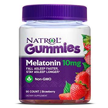 Hình ảnh Kẹo ngậm ngủ ngon Melatonin Natrol 5mg 150 viên, 10mg 90 viên gummies (Date 2020)-1
