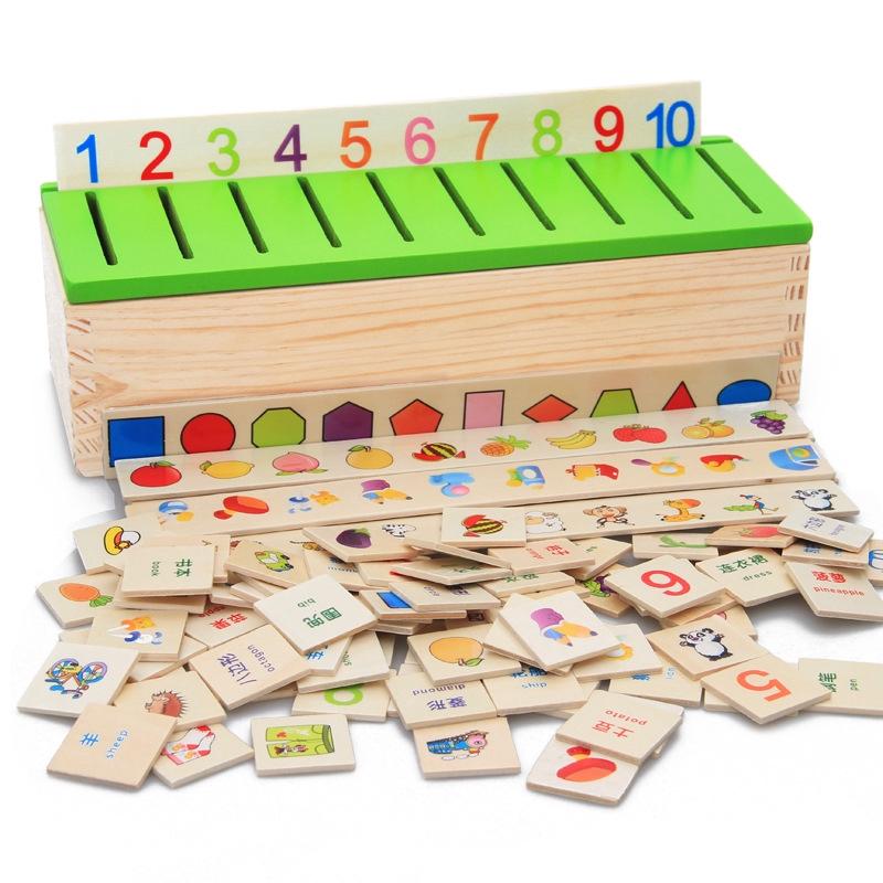 Hộp gỗ đồ chơi giáo dục cho bé