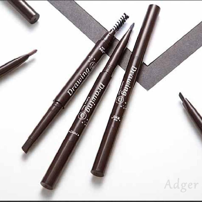 ดินสอเขียนคิ้วสองหัวแบบหมุนใช้คู่กันน้ำอัตโนมัติ 721