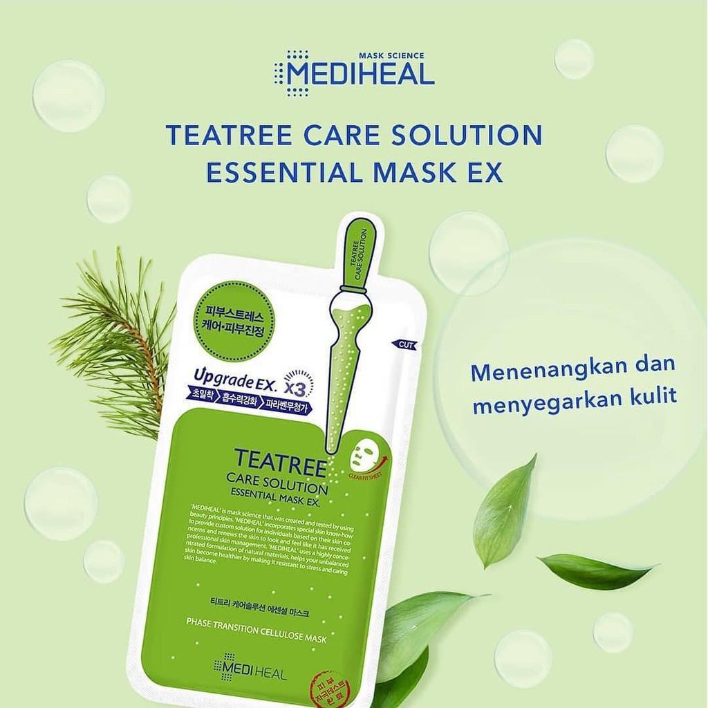 🌳 Mặt nạ Mediheal Tea Tree Solution Essential giảm mụn🌳 | Shopee Việt Nam