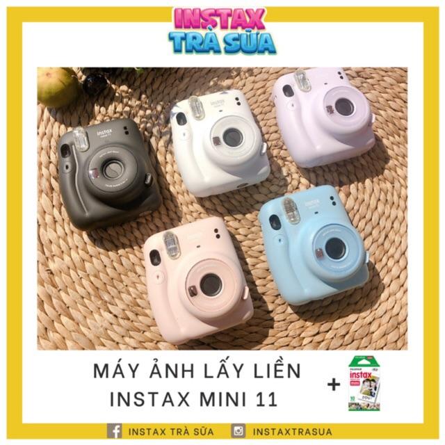 Instax Mini 11 - Máy ảnh lấy ngay - Chính hãng BH 1 năm - Tặng kèm 10 film