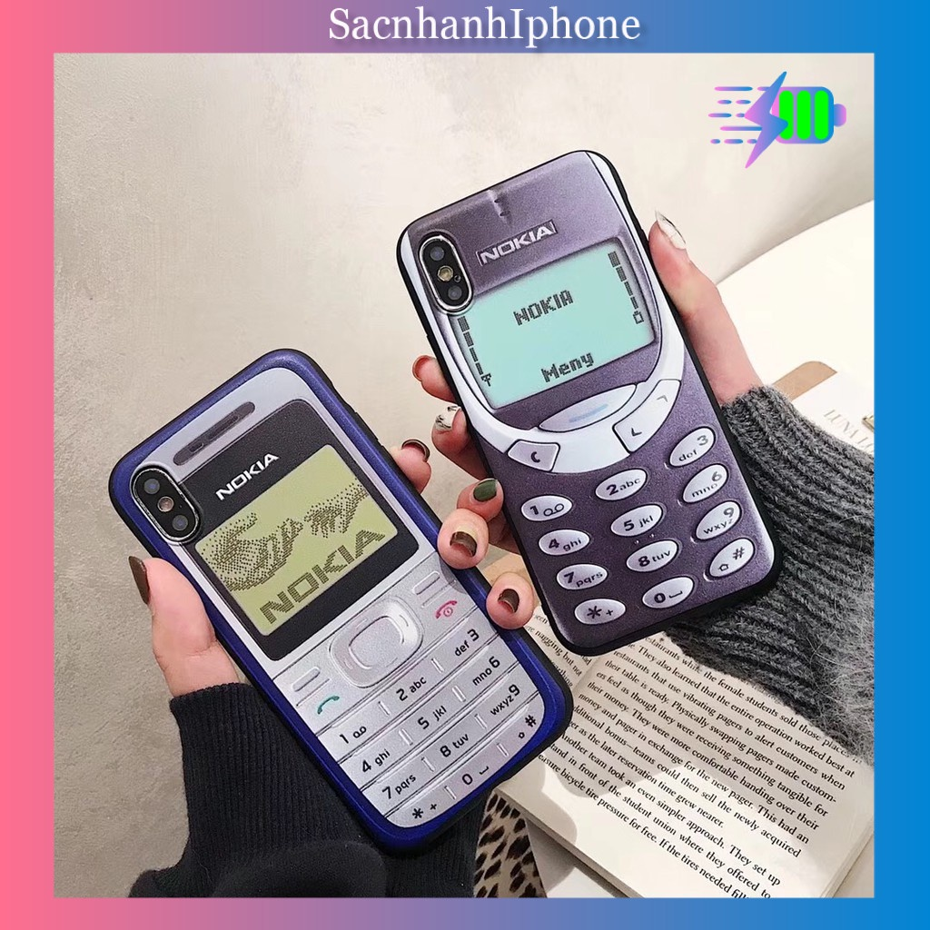 Ốp lưng mềm hình điện thoại Nokia cũ cao cấp cho iPhone 6 6S 7 Plus X 11 pro max a271