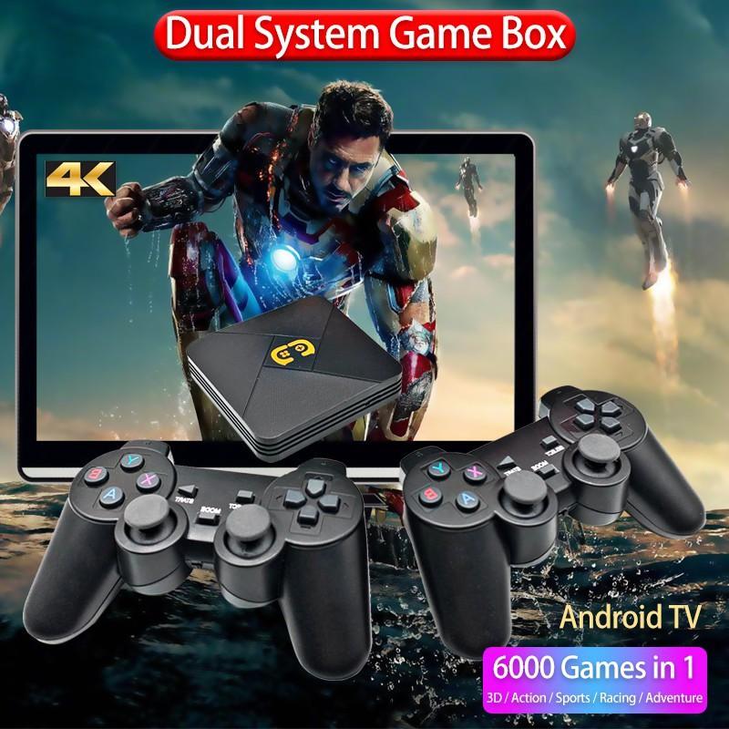🤞NEW 2021🤞Máy Chơi Game Cầm Tay Điện Tử 4 Nút HDMI Không Dây Tích Hợp Hơn 5600+ Trò Chơi Cho PSP / PS1 / FC / NES / N64