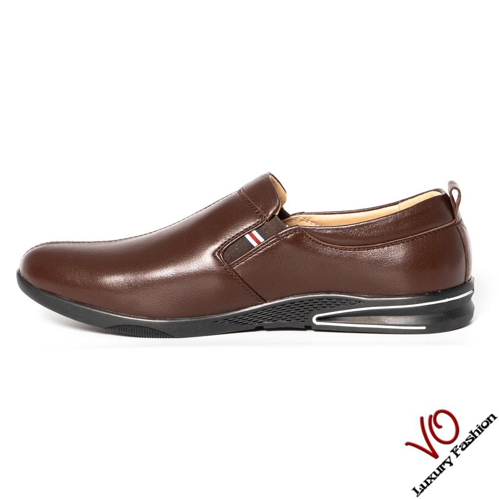 Giày mọi da bò màu nâu trẻ trung VO 9941
