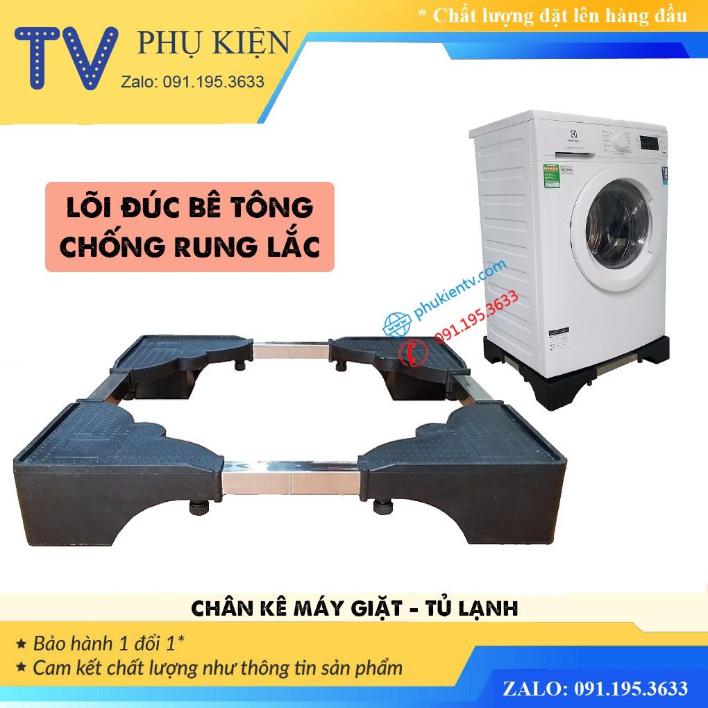 Chân Kệ Kê Máy Giặt Tủ Lạnh Đa Năng - Chân Đế Máy Sấy, Máy Rửa Bát Bê Tông Siêu Dày Chịu Tải 400 Kg