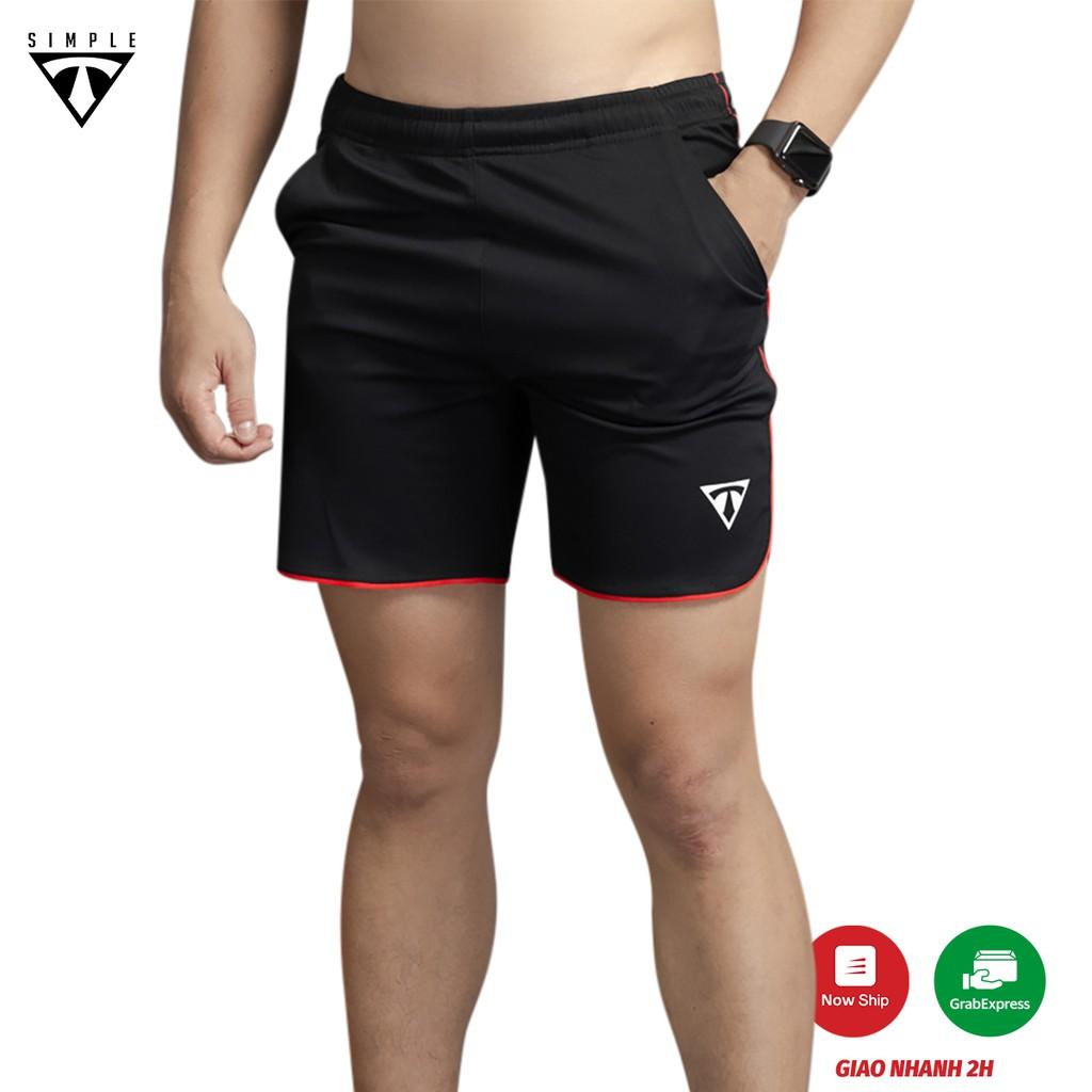 Quần Thể Thao Nam LAI BẦU TSIMPLE tập gym vải thun lạnh thoáng mát, co giãn, chuẩn form màu Xám