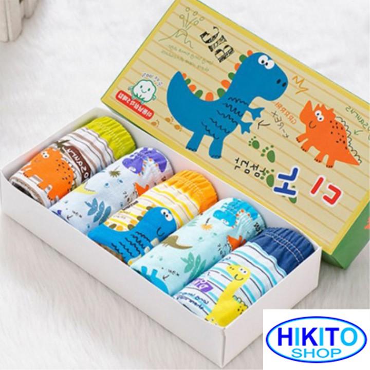 Quần lót bé trai cao cấp Combo Hộp 5 chiếc HIKITO-001
