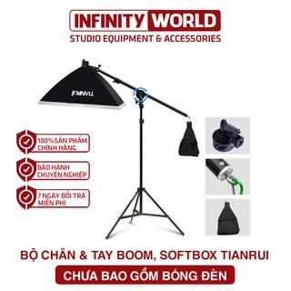 (Chân đèn LINZO ZENITH XỊN 200cm) Boom treo studio kèm softbox 50x70cm thumbnail
