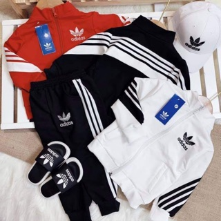( bán sỉ ) bộ Adidas xuất dư cho bé trai bé gái(30-50kg) thumbnail