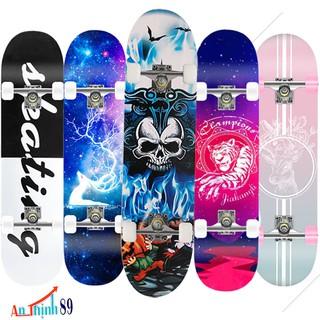 Ván Trượt Skateboard – Ván trượt thể thao mặt nhám, gỗ phong 7 lớp, vòng bi Apec 7 (kích thước: 80×20 cm)