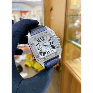 Đồng hồ CATIER nam nữ N01 màu đen mặt đính đá thumbnail