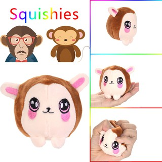 Cute Monkey Scented Squishies Slow Rising Kids Toys Stress Relief Toy Hop Props