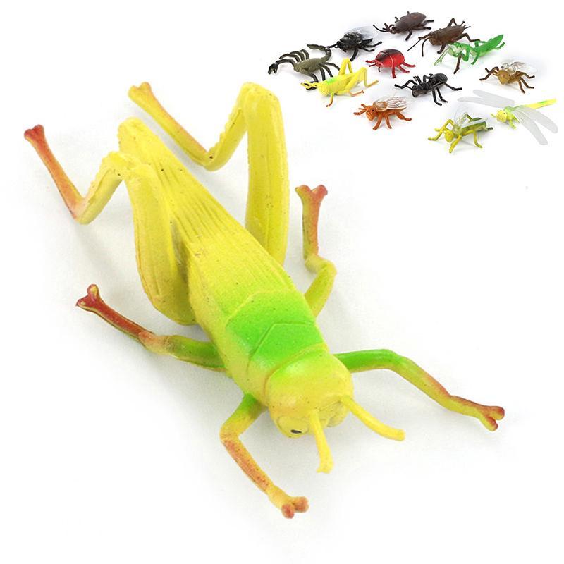 2018 12x Plastic Insect Model Figure Kids Toys Bug Mantis Scorpion Ant Bee Set