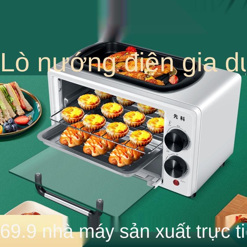 Lò nướng điện gia dụng Senko Máy nướng bánh đa năng lò nướng tự động mini máy ăn sáng nhỏ bánh tart trứng kèm chảo chiên