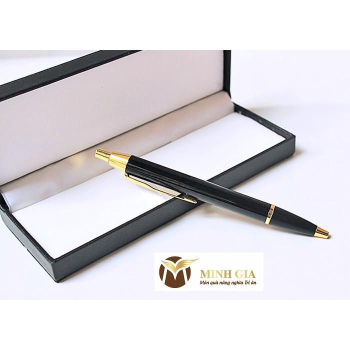 Bút ký ruột bi Bossi 25BBG – đen bóng cài vàng