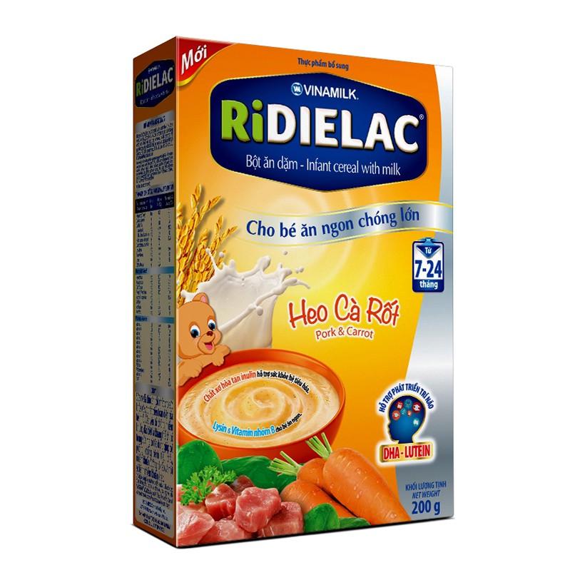 Bột ngũ cốc dinh dưỡng thịt heo, cà rốt Ridielac Alpha 200g - 9995809 , 424817119 , 322_424817119 , 55000 , Bot-ngu-coc-dinh-duong-thit-heo-ca-rot-Ridielac-Alpha-200g-322_424817119 , shopee.vn , Bột ngũ cốc dinh dưỡng thịt heo, cà rốt Ridielac Alpha 200g