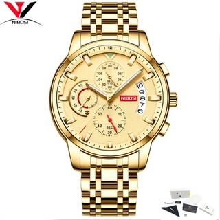 Đồng hồ nam dây thép không gỉ 6 kim fullbox Nibosi 2358 (vàng) thumbnail